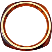 Vintage Bakelite Rootbeer & Cream Bangle