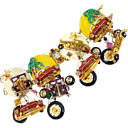 Vintage 1989 LUNCH AT THE RITZ Cars Cruise-in Charm Bracelet