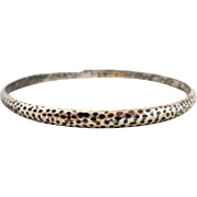 Early STERLING SILVER Hammered Bangle Bracelet
