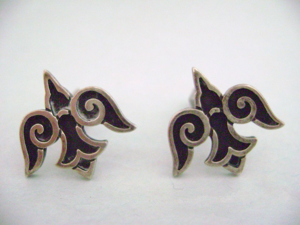JAMES AVERY Sterling Silver Doves Cuff Links