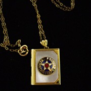 United States Airs Corp Military Sweetheart Locket Necklace 1/20 12K GF
