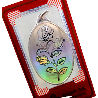 PAMP 10G .999 Fine Silver Holographic Roses Pendant