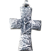 Rare JAMES AVERY St Francis Sterling Silver Cross Pendant