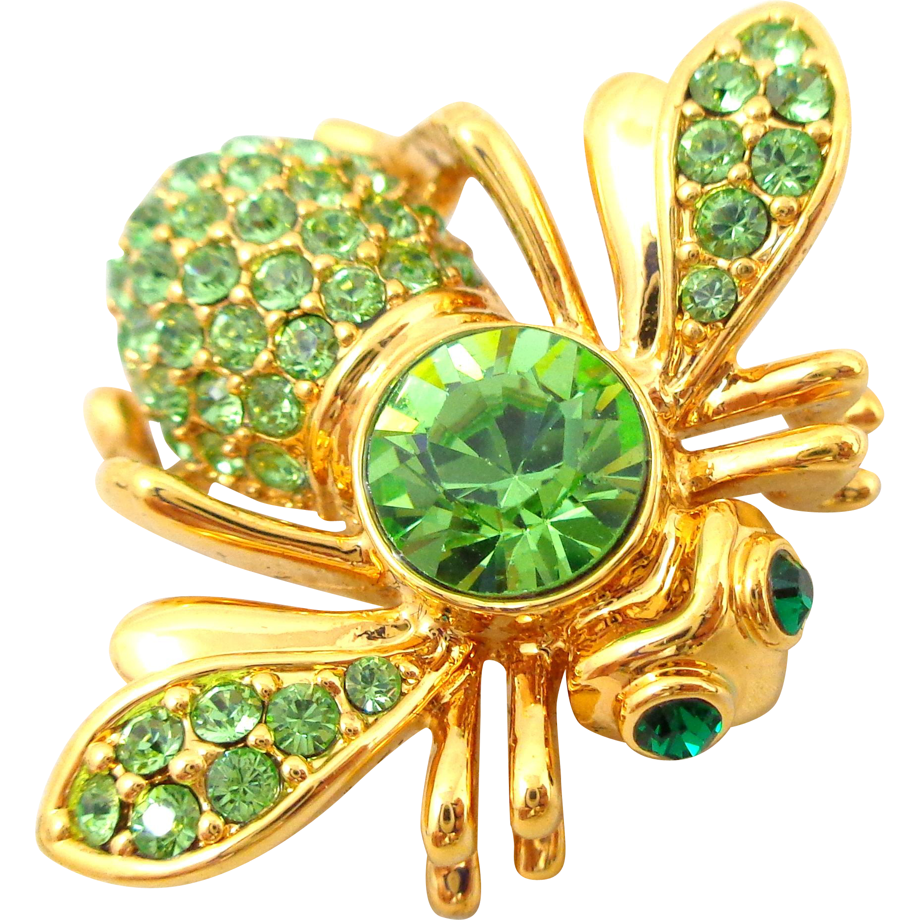 JOAN RIVERS August Peridot Birthstone Bee Pin
