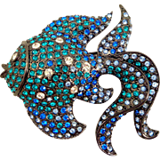 Stunning Kenneth Lane KJL Crystal Angel Fish Pin