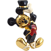 Vintage 1990's NAPIER Disney Top Hat Mickey Mouse Pin