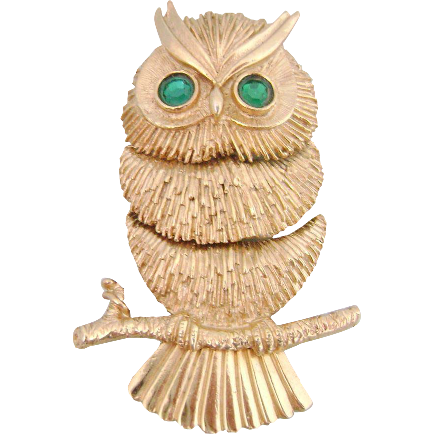 Vintage Articulated NAPIER Owl Pin