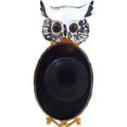 Vintage ORIGINAL By ROBERT Fat Belly Figural Owl Pin