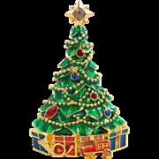 "CHRISTOPHER RADKO ""Presents under the Tree"" Christmas Pin OOC"