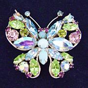 Vintage REGENCY Butterfly Pin Stunning Pastels