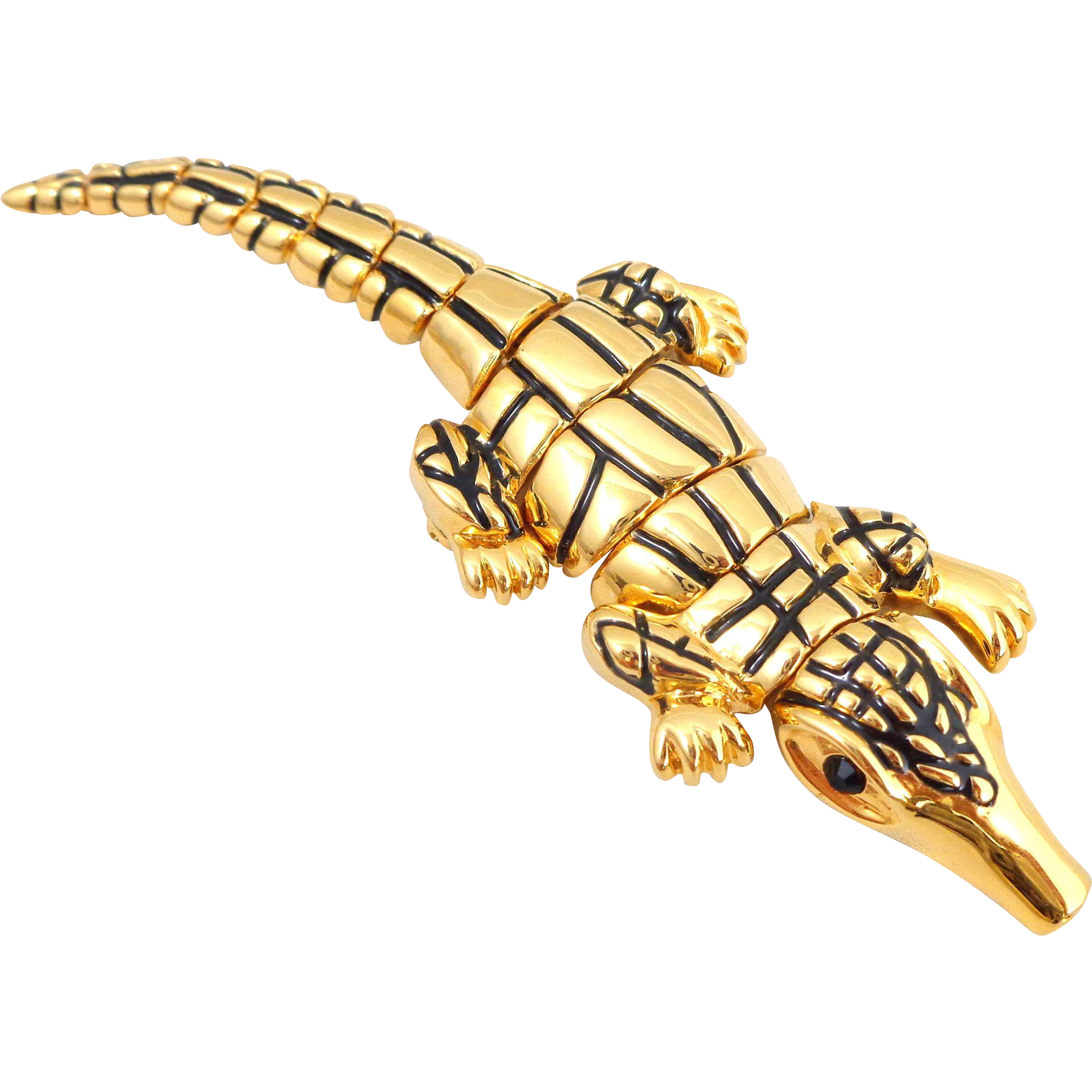 Designer ST JOHN Articulated Alligator Pin