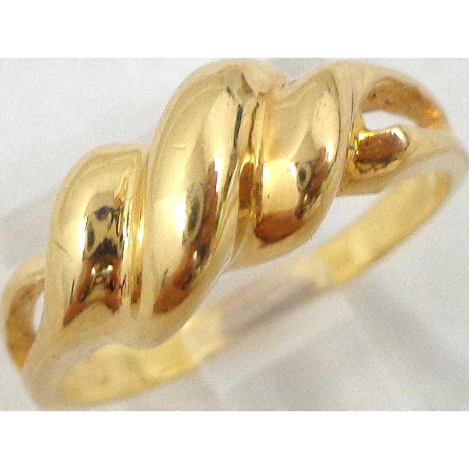 Estate 18k Gold Wave Scroll Ring Sz 5