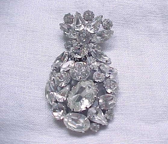 Magnificent Regency Diamante Rhinestone Brooch