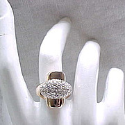 FAB Panetta Cocktail Ring - Goldtone & Rhinestone - Fashion Statement