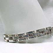 Sterling Silver Tank Track Bracelet