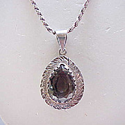 Large Sterling Silver Pendant Signed - Fab Chain