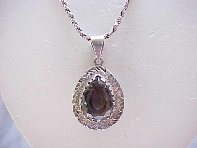 03 - Large Sterling Silver Pendant Signed - Fab Chain