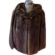Fab Emba Mink Jacket Light Brown - Small/Medium - Check measurements