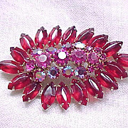 Gorgeous Rhinestone Pin Deep Rose, Hot Pink