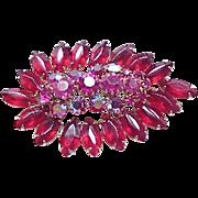 Gorgeous Rhinestone Pin Deep Rose, Hot Pink