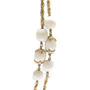 Trifari Waterfall Companion Necklace - Creamy White, Goldtone