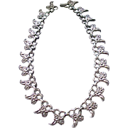 Beautiful Repousse' Sterling Silver Necklace