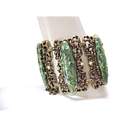 Best Every Confetti Lucite Bracelet - Huge and Gorgeous