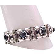 Sterling and Onyx Bracelet - Mexico Silver