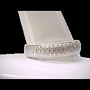 Lovely Textured Sterling Bracelet, Easy to Wear