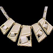 Chic Trifari MOD Necklace - Enameled Open Work