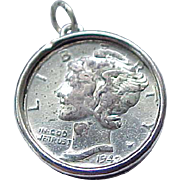 Beau Sterling Emergency Charm - 1942 Dime