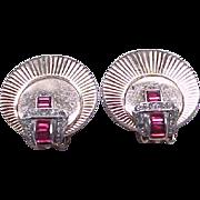 Lovely Art Deco Boucher Buckle Pin, Earrings