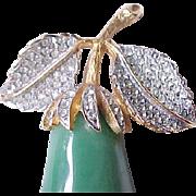 Stunning KJL Green Pear Brooch Pin