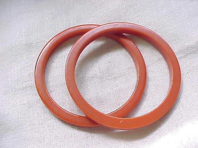 2 Apricot Bakelite Bangles