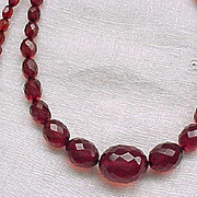 Fabulous Long Cherry Amber Necklace - Gorgeous Color