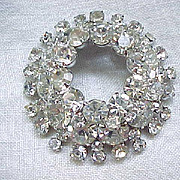 Mega Glitz Juliana Diamante Rhinestone Brooch - D & E