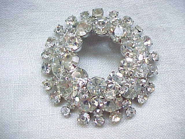 Mega Glitz Juliana Diamante Rhinestone Brooch - D & E