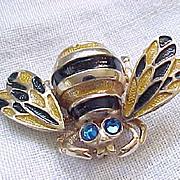 Delightful Boucher Bumblebee Trembler Pin