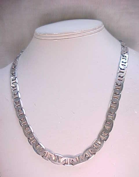 Nice Sterling Necklace - Geometric Design - 35 grams