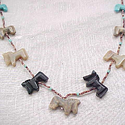 Native American Horse Fetish Necklace
