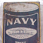 Navy Scotch Snuff - Vintage Metal Advertising Sign