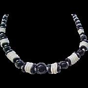 Czech Necklace Glass Ruffle Beads