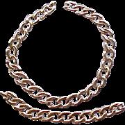 05 - Monet Goldtone Necklace and Bracelet