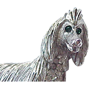Superb Erwin Pearl Afghan Hound -  Dog Pin