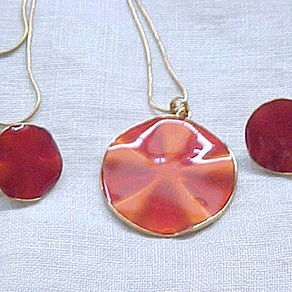 04 - Necklace and Earrings - Gorgeous Orange