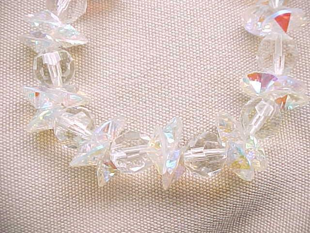 Beautiful Long Crystal Necklace Miriam Haskell, Plus Earrings