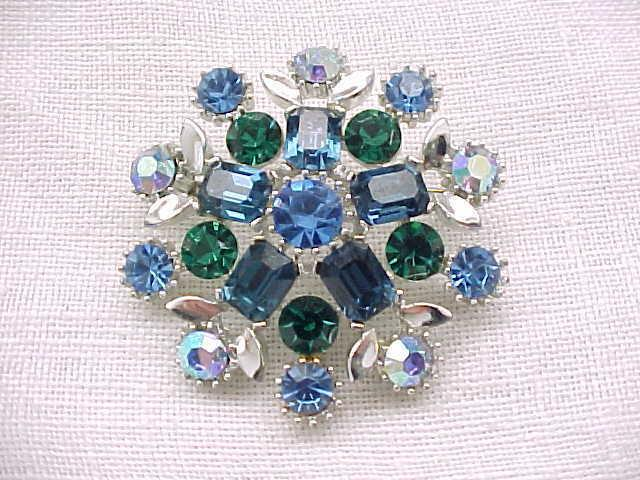 01 - Lovely Lisner Rhinestone Pin, Earrings