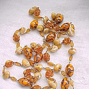 Fabulous Art Glass Necklace - Earth Colors - Extraordinary Beads