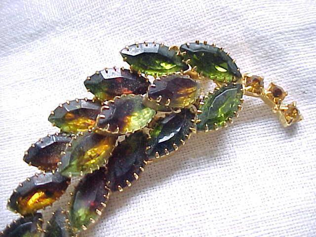 12 - Pretty Pin - Spray - Earth Color Rhinestones - Autumn Leaf