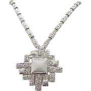 Superb Monet Convertible Necklace - Silvertone